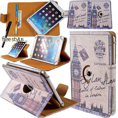 """Rotating Stand Wallet Leather Case Cover Fit 7"""" 8"""" Samsung Galaxy Tab Tablets"""