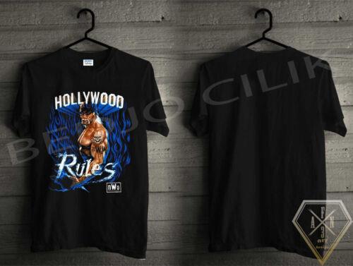 New Hollywood Rules HulkHogan Mens Black Tee Shirt UNISEX Size S-3XL
