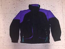 VTG Columbia Powder Keg Ski Snowboard Jacket Mens 3 in 1 Black Purple Teal Sz M