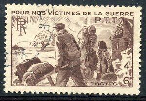TIMBRE-FRANCE-OBLITERE-N-737-VICTIMES-DE-GUERRE-Photo-non-contractuelle