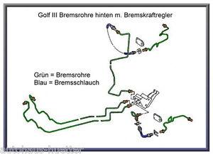 = Bremsleitungskit hinten links - Golf III v. BKR mit Schlauch  =