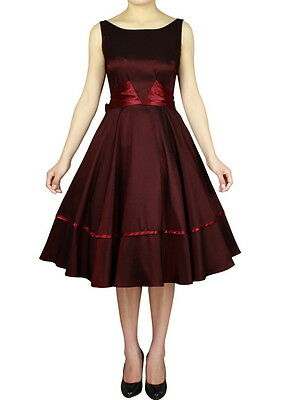 Rockabilly Vintage Evening Pin Up Formal Retro Swing Dance 50s Dress 8 - 28plus