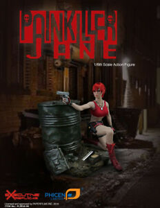 1//6 Scale Phicen Female PainKiller Jane Comic Book Character Red Pants