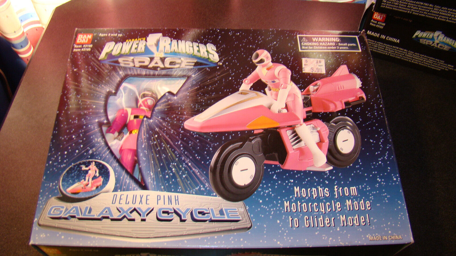 Power Rangers Deluxe Pink Galaxy Cycle Rare
