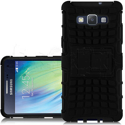 Black Shock Resistant Dual Layer Protective Casing Cover for Samsung Galaxy A5