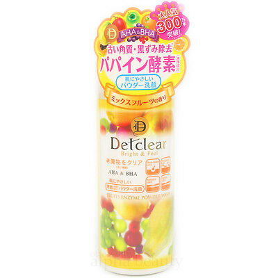 Meishoku Japan DET Clear Bright & Peel Fruit Enzyme Powder Wash with AHA & BHA