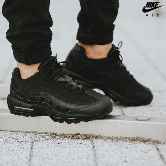 new arrival e55d8 cb166 Nike Air Max 95 Triple Black Black Black 609048-092 Men's ...