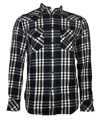 """Xl Neu Shirts & Hemden Kleidung & Accessoires Diesel Herren Langarm Hemd """"east-long"""" Blau/weiß Kariert Gr"""