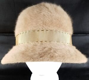 Vintage-Kangol-Angora-Cloche-Hat-Womens-Size-6-5-Made-in-England