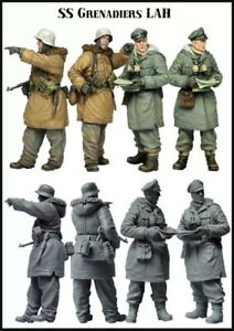 1-35-scale-resin-model-figures-kit-WW2-German-Officers