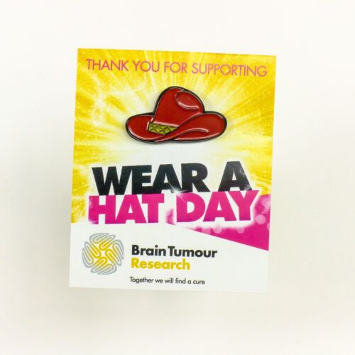 Cowboy Hat Badge Wear A Hat Day Brain Tumour Research