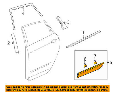Cadillac GM OEM 10-16 SRX Rear Door Body Side-Lower Molding Trim Right 20881806