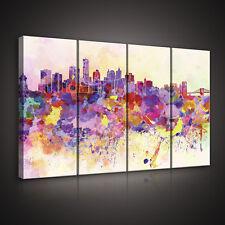 CANVAS Wandbild Leinwandbild Bild Stadt Abstraktion Graffiti Farbe  3FX10634S7