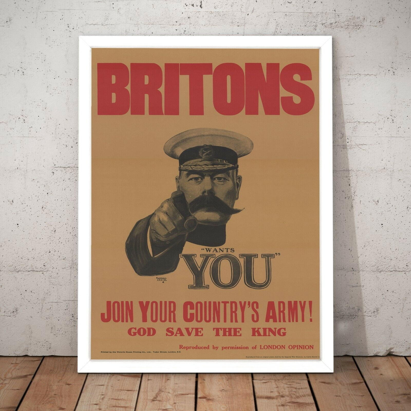 Britons Wants You  Vintage Print Army Art Poster - A4 to A0 Framed