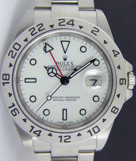 ROLEX - 40mm SS Explorer II White Index Dial - 16570 SANT BLANC