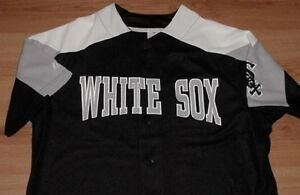 4c37df040 Image is loading Chicago-White-Sox-Jersey-Medium-Black-Embroidered-Majestic-