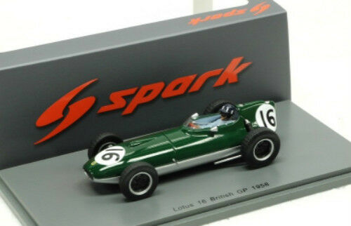 negozio online Lotus 16 n.16 14th British GP GP GP 1958 Graham Hill Spark modello 1 43  S5340  consegna veloce