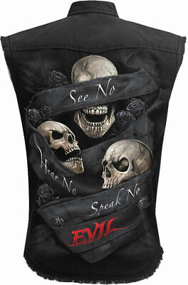 Spiral Direct BLACK GOLD Work Shirt,Biker//Band//Skull//Rock//Metal//Skull