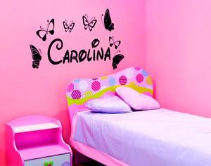 Adesivo personalizzato nome tipo disney bambini stanzetta stickers murale