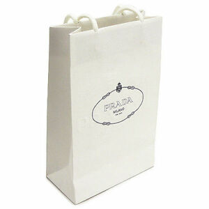 01de3853ce9d Paper Prada Gift Shopping Bag X Milano White Medium Authentic Bags ...