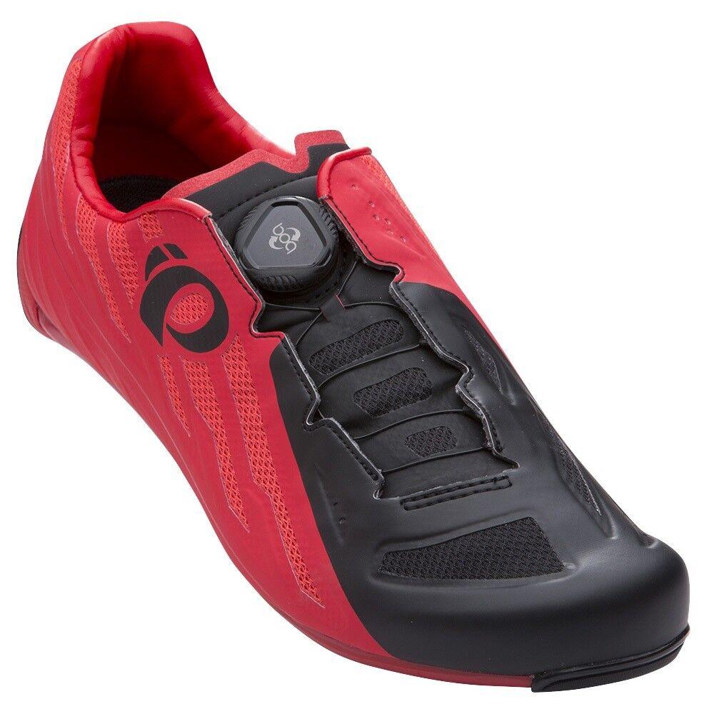 Pearl Izumi carrera carretera v5 Boa de Carbono Bicicleta Ciclismo Zapatos Rogue Rojo Negro 39.5