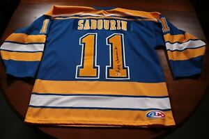 St-Louis-Blues-Alumni-Signed-Autographed-Gary-Sabourin-Jersey-Auto-Hockey