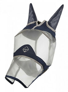 LeMieux-ARMOUR-SHIELD-PRO-FULL-Face-Turnout-Field-Fly-Mask-Ears-amp-Nose-Protector