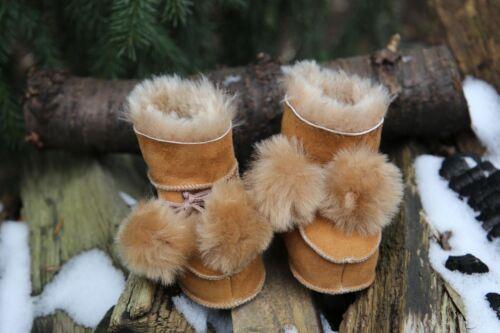 PUMMELCHEN Echtfell Schuhe Kinderschuhe Hausschuhe Baby Lammfellschuhe