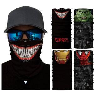 Superheros-Motorcycle-Cycling-Neck-Scarf-Bandana-Headband-Cosplay-Balaclava