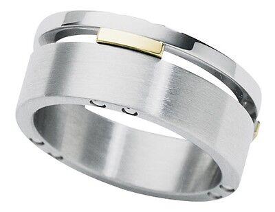 Dolan Bullock Mel Bourne Stainless Stl  18k gold  ring nrg012200 msrp $250
