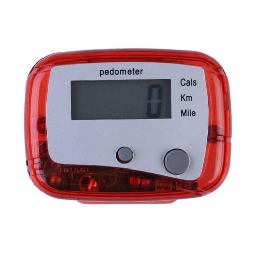 Digital LCD Walking Pedometer Step Distance Calorie Counter Clip on Belt Fitness