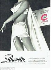 PUBLICITE ADVERTISING 116  1965  Silhouette  gaine Elura Chemstrand  sous vetem