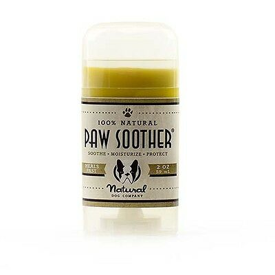 Natural Dog Company PAW SOOTHER | dogs dry cracked paw pads | 2oz/59ml Stick