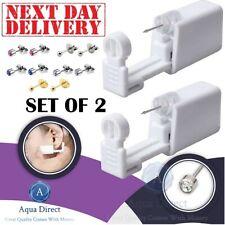 2Pcs Disposable Nose Ear Piercing Tool Gun Earring Ear Stud Gun Kit (Earing Kit)