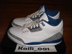 7659707b5b64e0 Nike Air Jordan 3 Retro Size 11.5 True Blue 136064-104 Worn Black ...