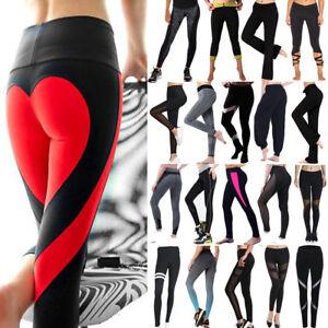 6d1d248656 Women Yoga Leggings Ladies Fitness Pants Gym Run High Waist Sports ...