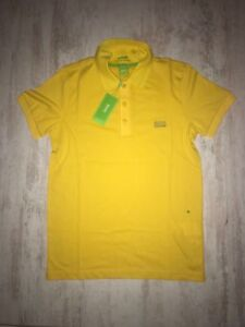 5e16b5e5 New Men Hugo Boss Green Paule Polo T-Shirt Yellow Size S | eBay