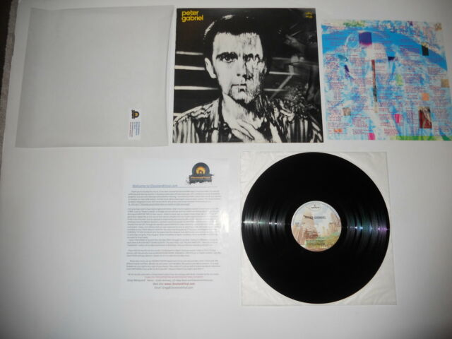 Peter Gabriel Melt '80 1st Mercury SRM-1-3848 EXC USA Press Ultraosnic CLEAN