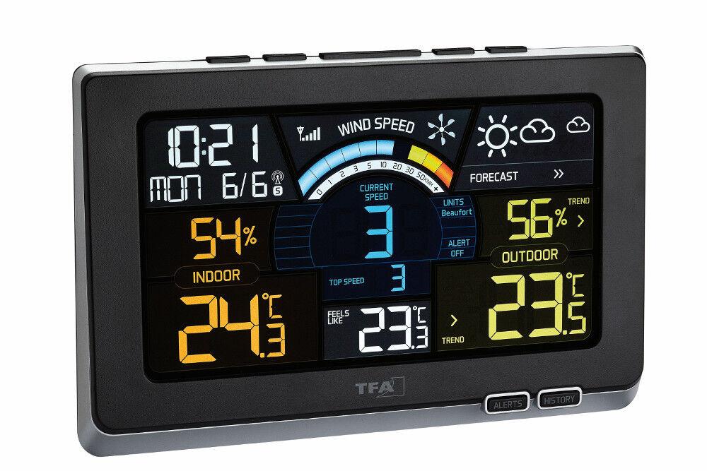 Estación Meteorológica Spring Brisa tfa 35.1140.01 Radio Medidor de Viento