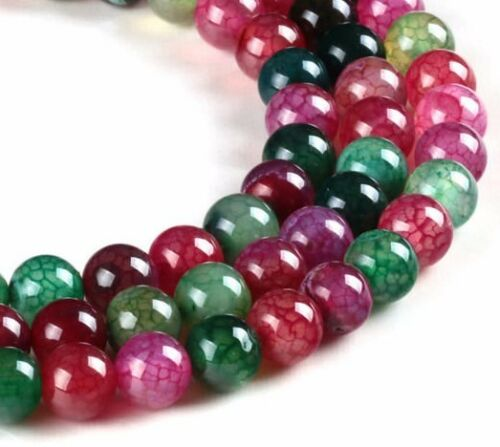 20 TOURMALINE tormalina gioielli perle 6mm MIX mezza pietra preziosa sfera Best g12