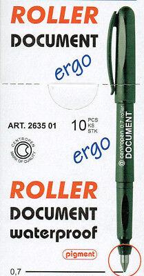 Roller Kugelschreiber 0,5 mm in schwarz rot blau grün Ergo Stift Centropen TT4
