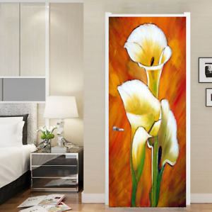 3D Self Adhesive Oil Painting Door Mural Wall Sticker Wallpaper Home Decor A