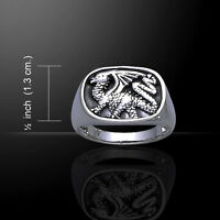 Dragon Signet .925 Sterling Silver Ring By Peter Stone