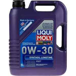 LIQUI-Moly-5l-Synthoil-Longtime-0w30-Per-BMW-MB-229-3-VW-502-00-505-00-ACEA-a3-b