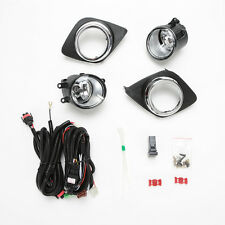 For 2009-2012 Toyota RAV 4 RAV4 Clear Lens Fog Lights Kit w/Bezel Switch Bulbs