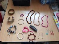Job lot jewellery necklaces bracelets earrings CAR BOOT RESALE