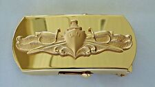 USN US NAVY OFFICER SHIP SHORE AIR CREW'S SURFACE WARFARE SPECIALTY BELT BUCKLE