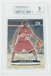 2003-04-Fleer-Ultra-Lucky-13-LeBron-James-BGS-9-Mint-Serial-Numbered-317-500