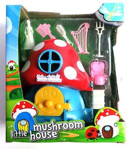 Little-Mushroom-House-Doll-Toys-Set-Accessory-Kids-Children-Gift-Birthday-Play