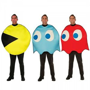 Image is loading Pac-Man-Costume-Adult-Funny-80s-Halloween-Fancy-  sc 1 st  eBay : funny 80s costume  - Germanpascual.Com